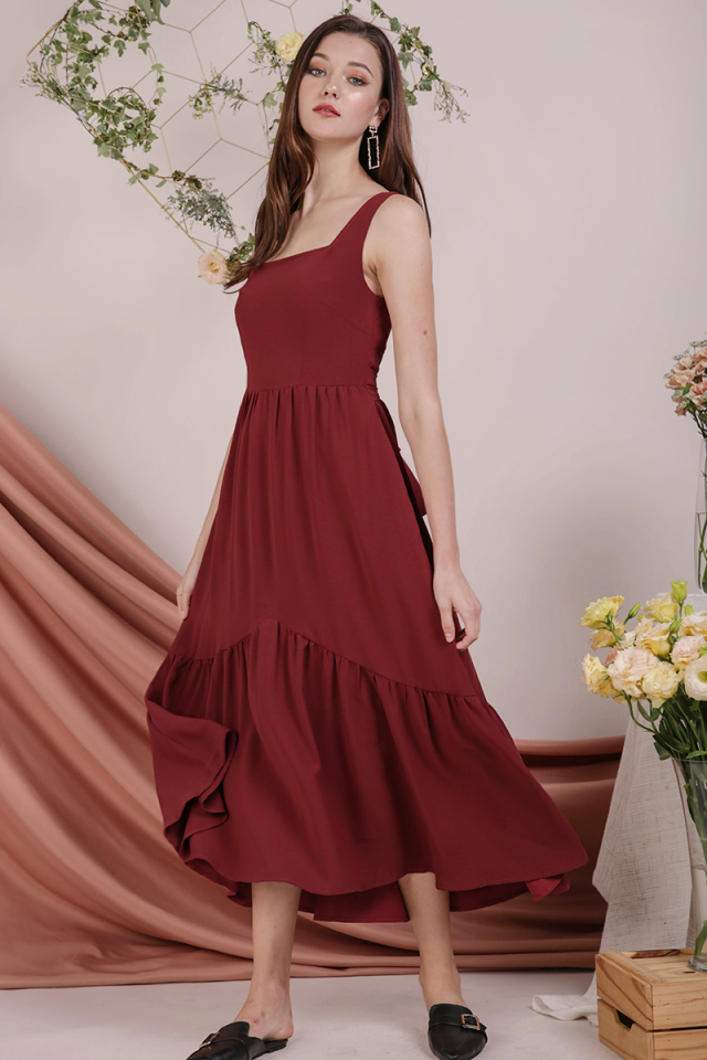 Gail Tiered Maxi (Rust)