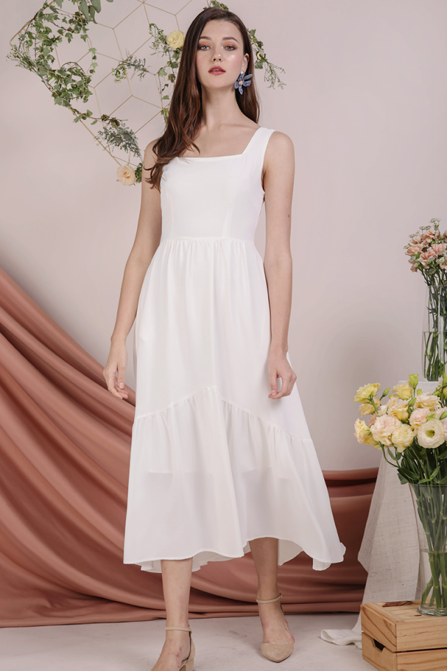 Gail Tiered Maxi (White)