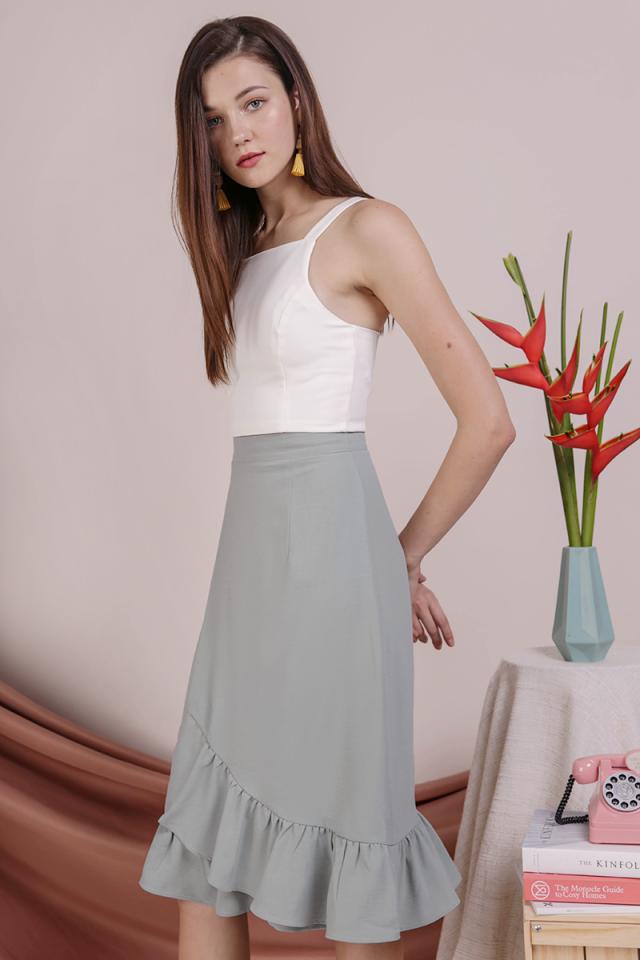Myla Ruffles Skirt (Seafoam)