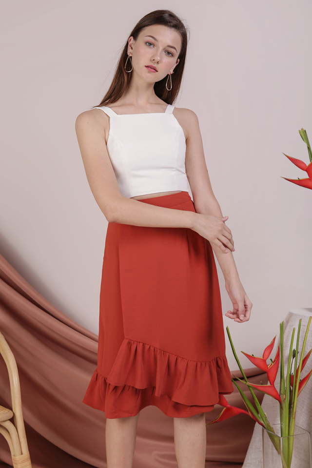 Myla Ruffles Skirt (Burnt Orange)
