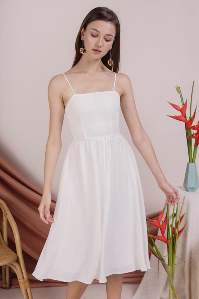 Leora Spag Flare Dress (White)