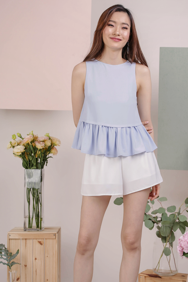 Jan Babydoll Top (Periwinkle)