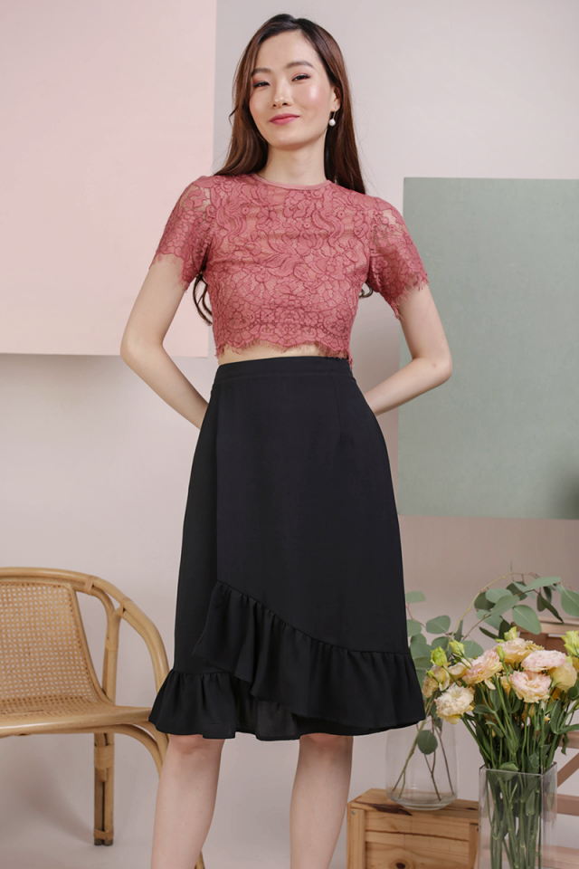 Pam Lace Top (Rosewood)