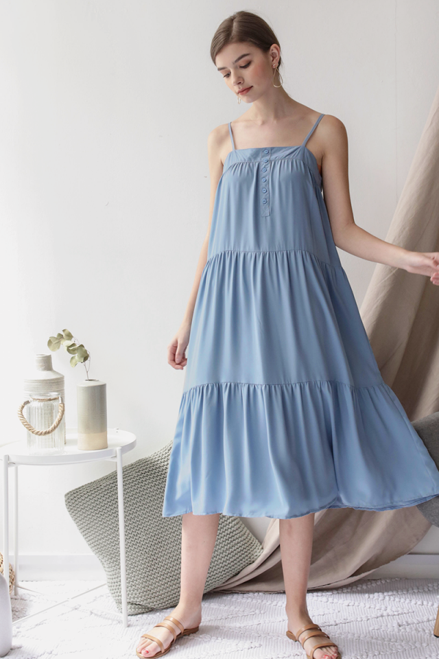 Frida Midi Dress (Sky Blue)