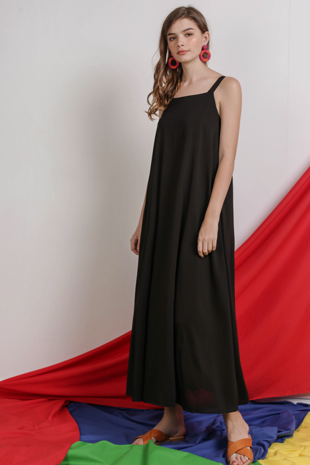 Aurelia Maxi Dress (Black)