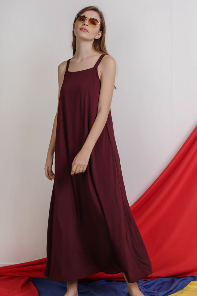Aurelia Maxi Dress (Plum)