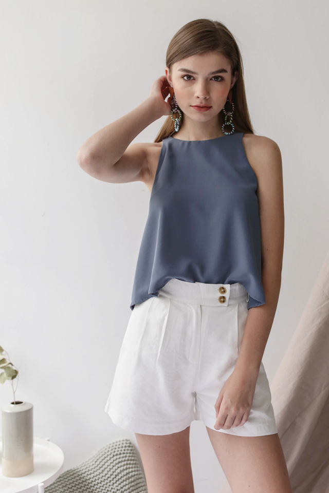 Heather Swing Top (Dusty Blue)