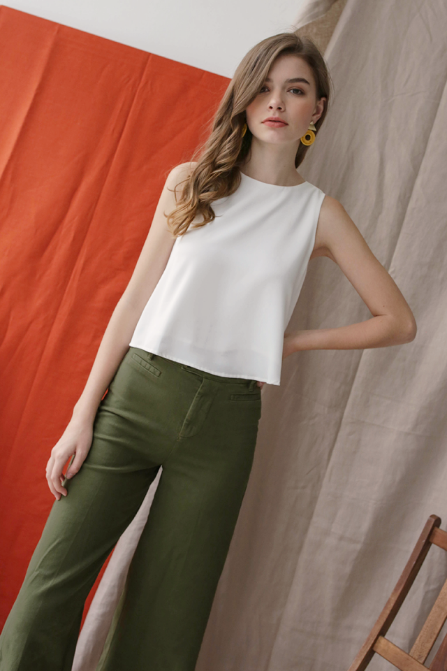 Judy Flare Top (White)