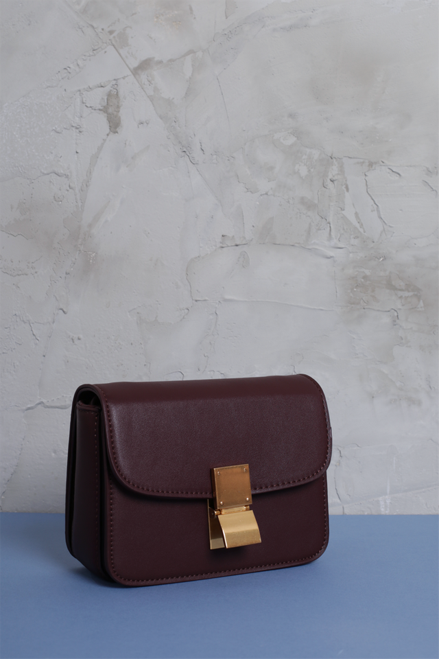 Cedar Box Bag (Oxblood)