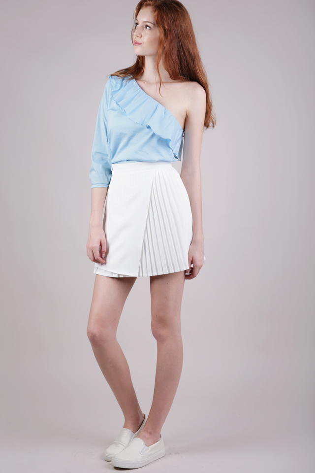 Wilson Pleated Skirt (White)