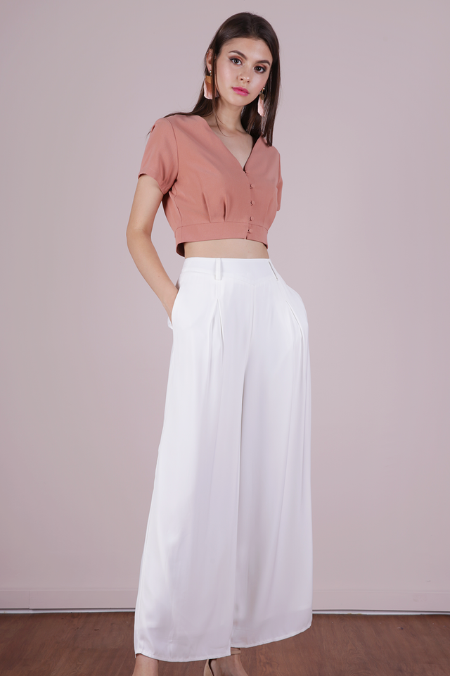 Bondi Flowy Pants (White)