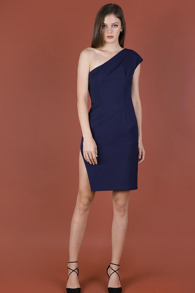 Beau Toga Dress (Navy)