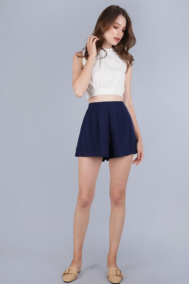 Petal Flare Shorts (Navy)
