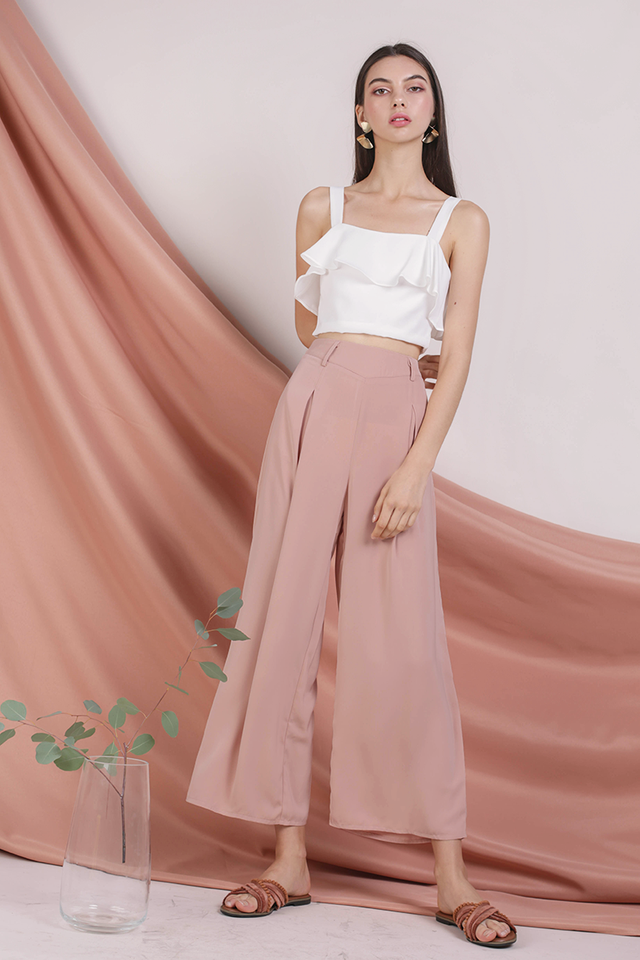 Bondi Flowy Pants (Gentle Blush)