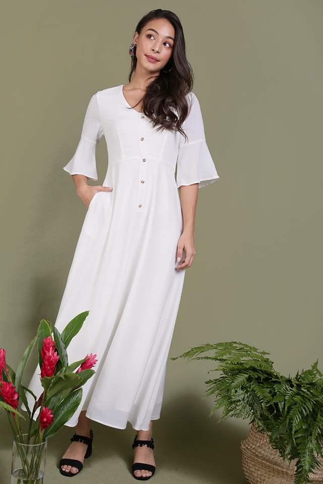 Tammy Maxi Dress (White)