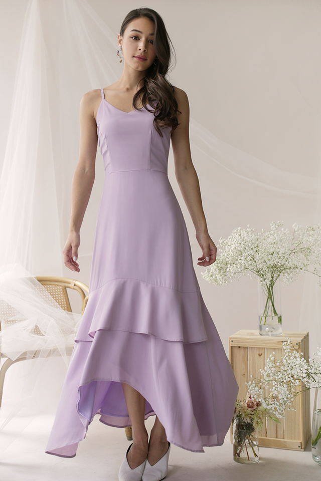 Florence Fishtail Maxi Dress (Lilac)