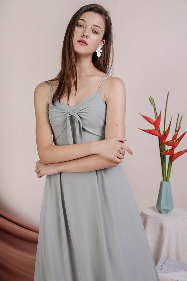 Faith Tie Front Dress (Seafoam)