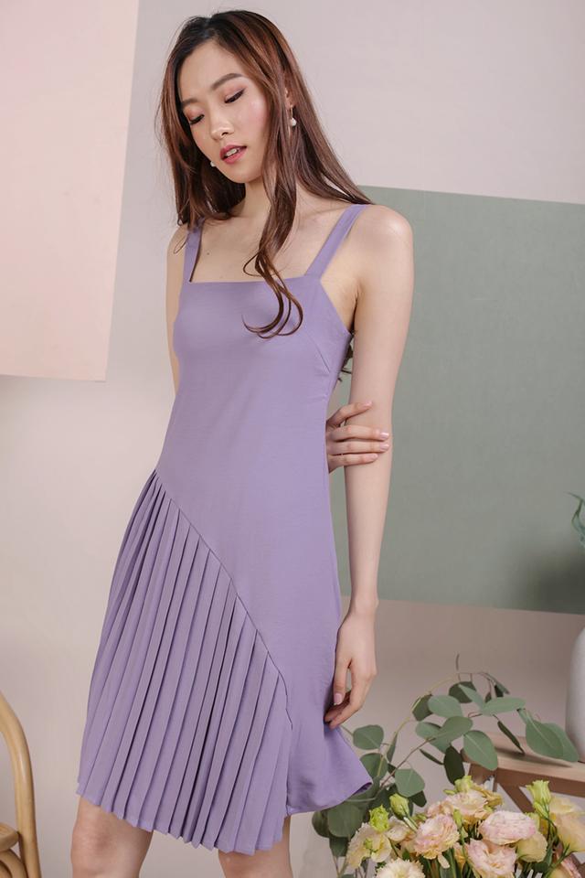 Mel Pleated Dress (Lavender)