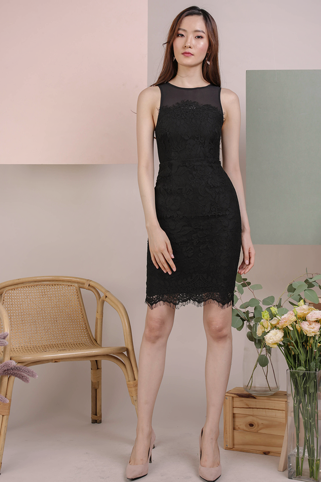 Kris Lace Dress (Black)