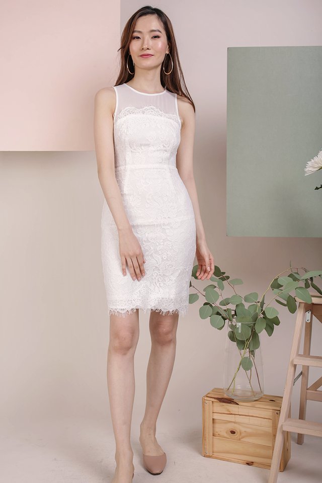 Kris Lace Dress (White)