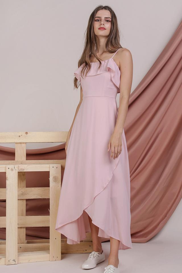 Arielle Ruffles Maxi (Blush Pink)