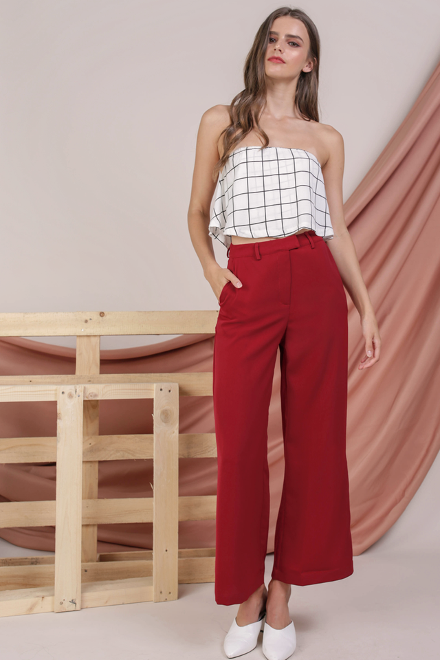 Jodi Tailored Pants (Red)