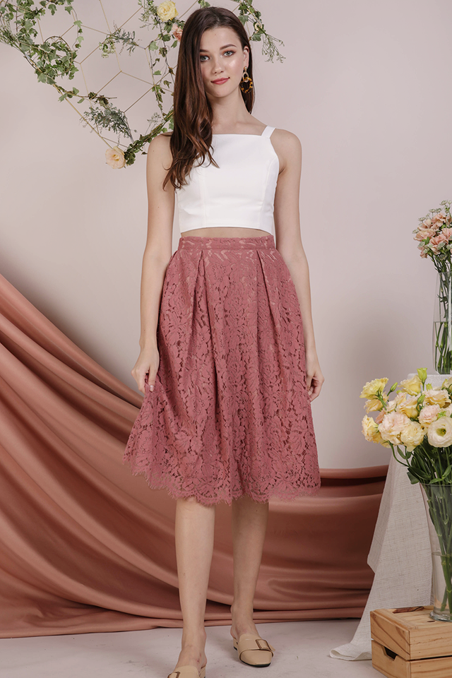 Cole Lace Skirt (Rosewood)
