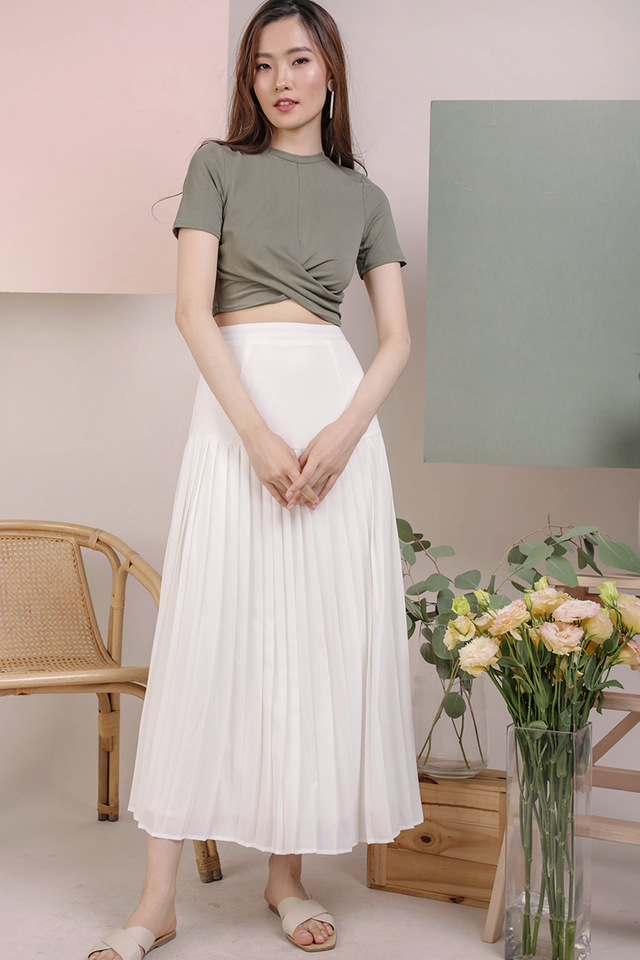 Sue Pleated Skirt (White)