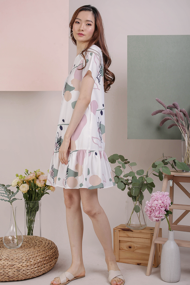 Mae Drop Hem Dress (Flourish)