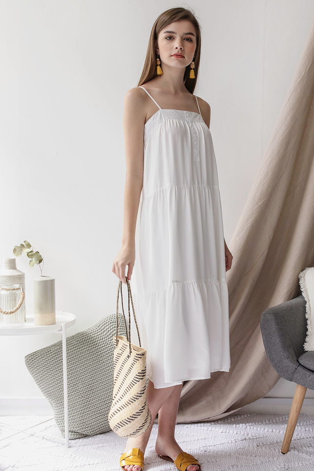 Frida Midi Dress (White)