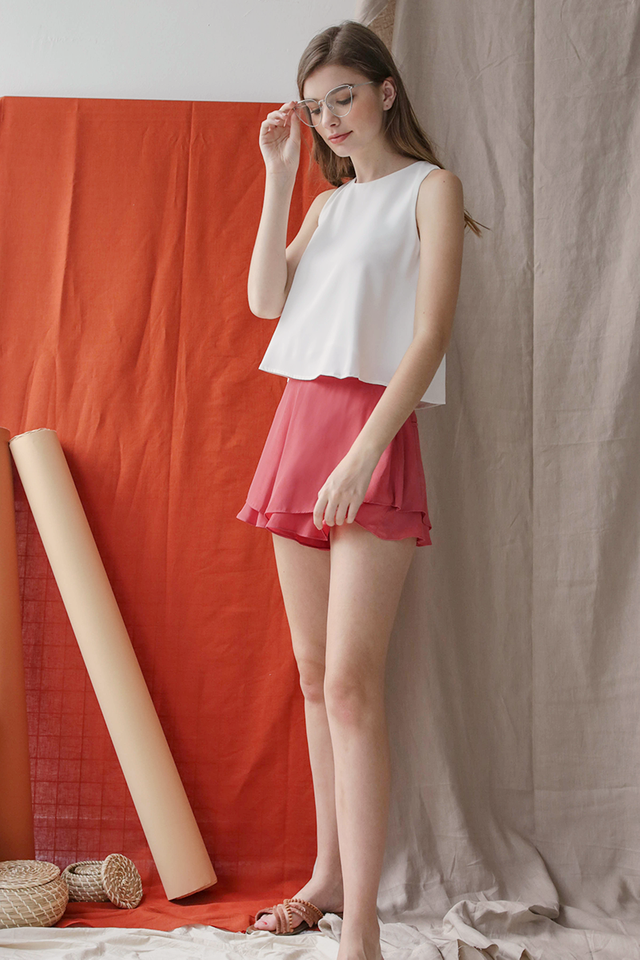 Cassidy Ruffles Shorts (Coral)