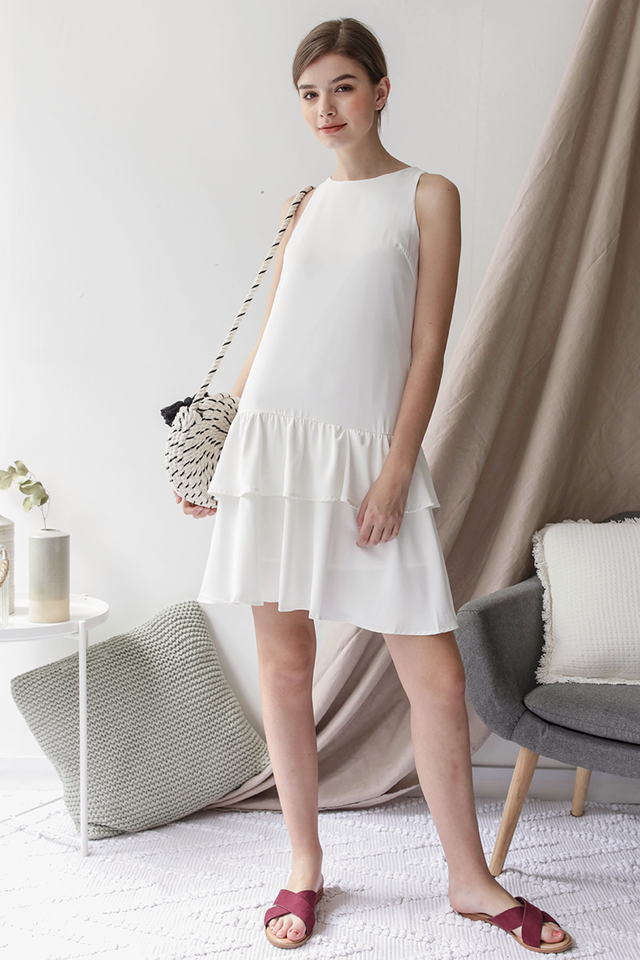 Elly Tiered Dress (White)