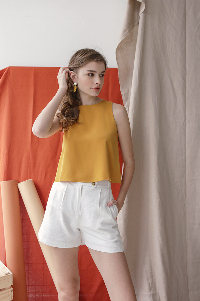 Judy Flare Top (Marigold Yellow)
