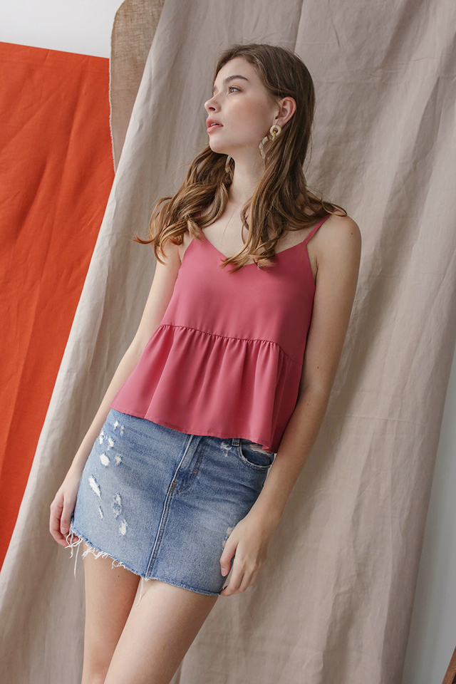 Marid Babydoll Top (Rose)