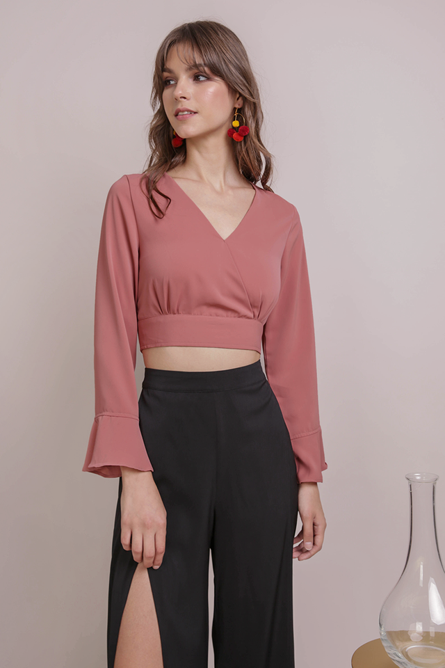 Dennis Wrap Front Top (Rosewood)
