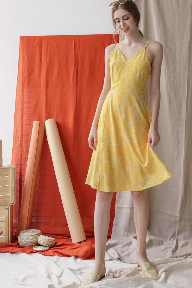 Dora Wrap Front Dress (Whimsy)