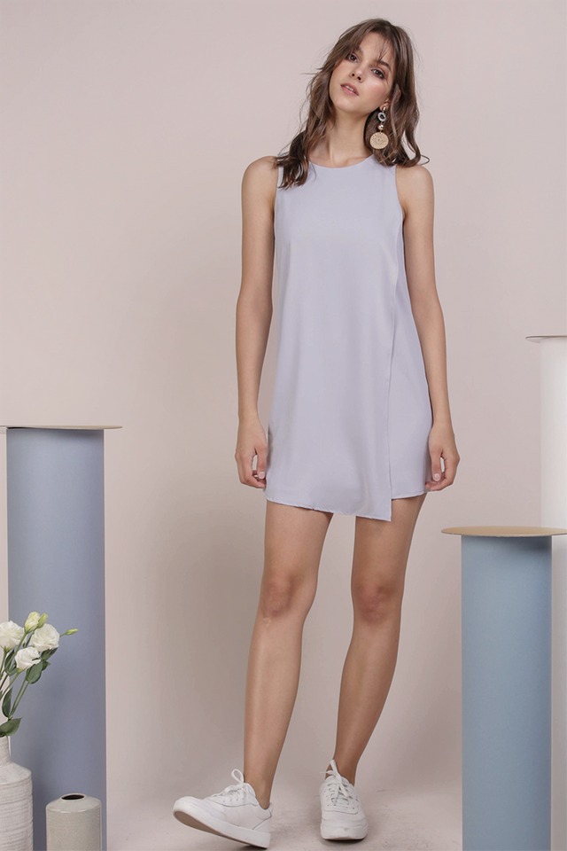 Jovi Shift Dress (Lilac Grey)