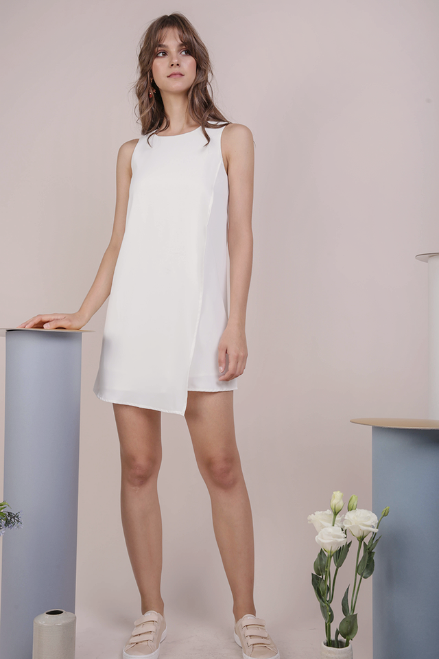 Jovi Shift Dress (White)