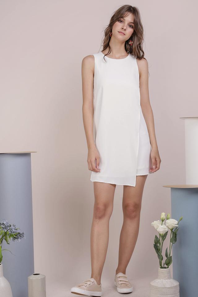 Jovi Shift Dress (White)