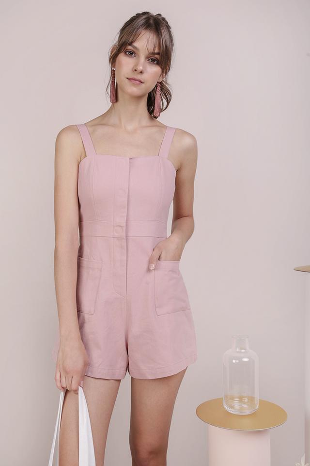 Dawson Pocket Romper (Pink)