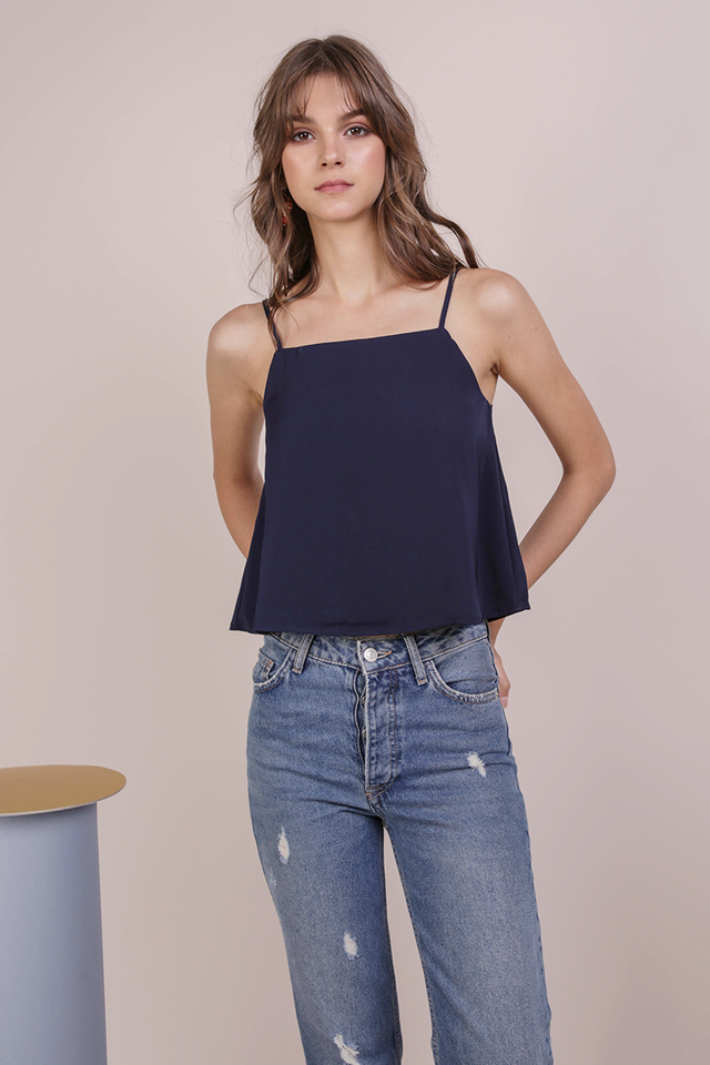 Stella Spag Top (Navy)