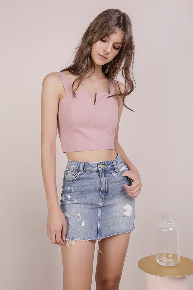 Veda Cropped Top (Pink)