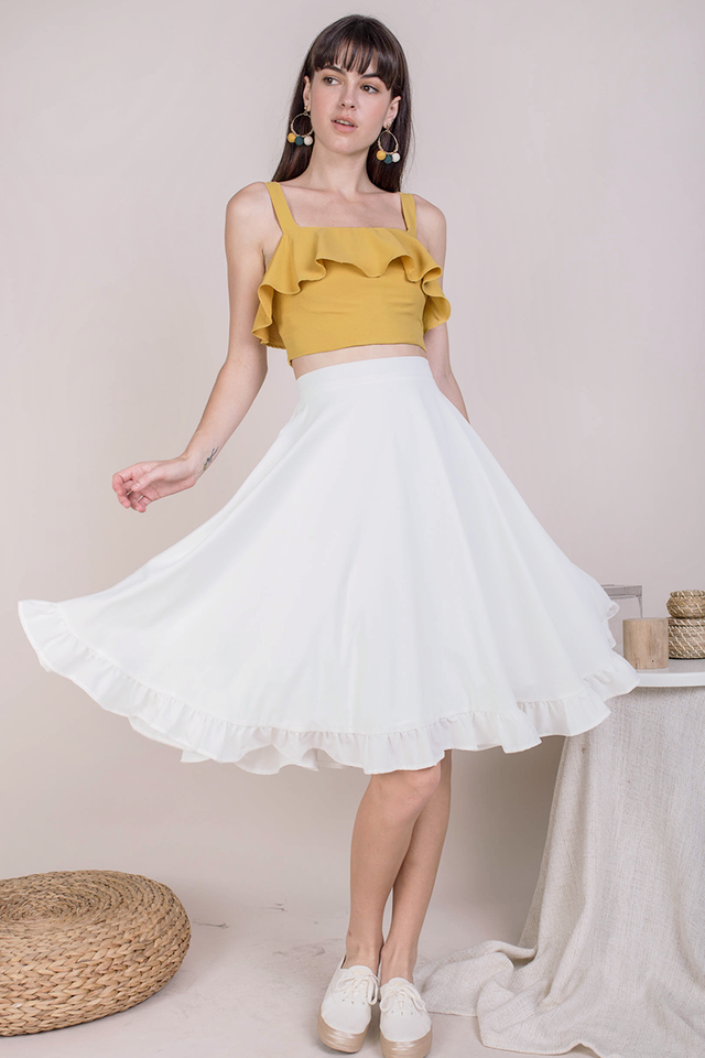 Sher Ruffles Skirt (White)