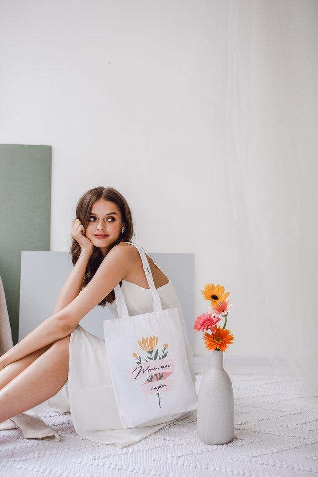 Woman Up Tote Bag