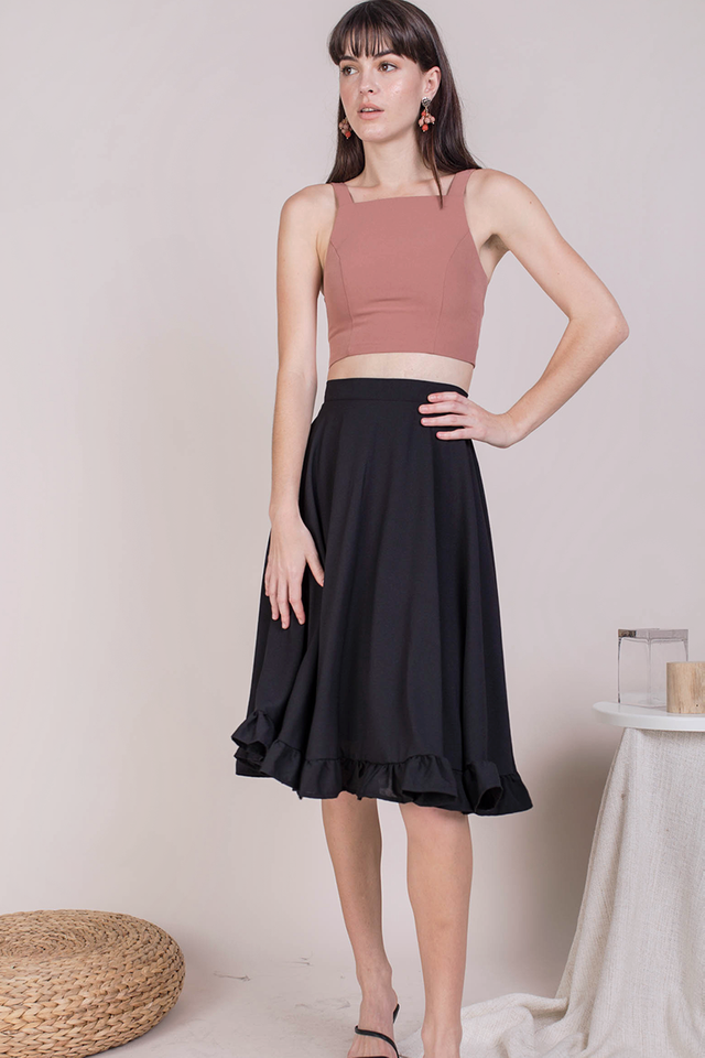 Sher Ruffles Skirt (Black)