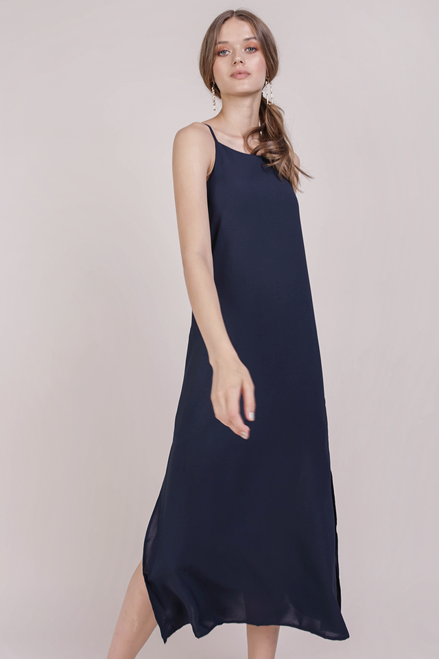 Taye Midi Dress (Navy)