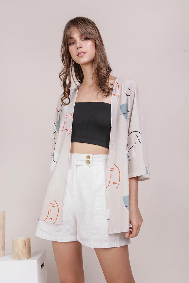 Odessa Kimono (Face Print)