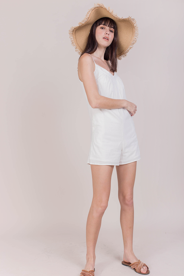 Lloyds Linen Romper (White)