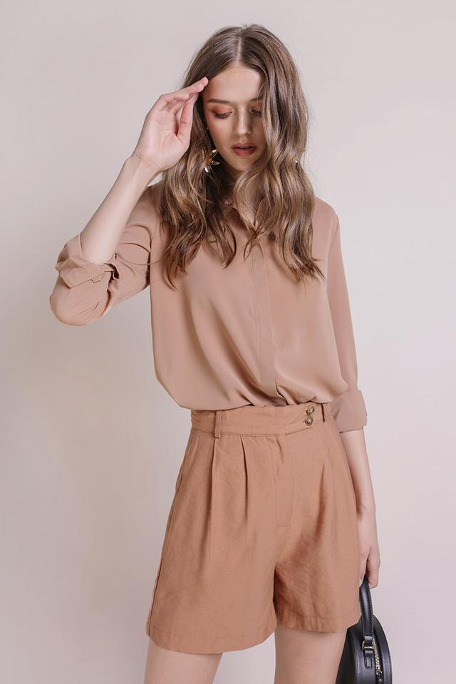 Josette Cuff Shirt (Tan)