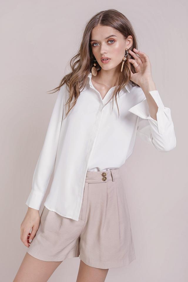 Josette Cuff Shirt (White)
